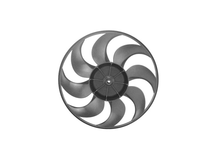 Black radiator fan