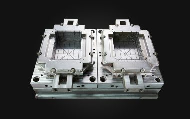 a pair of crate molds